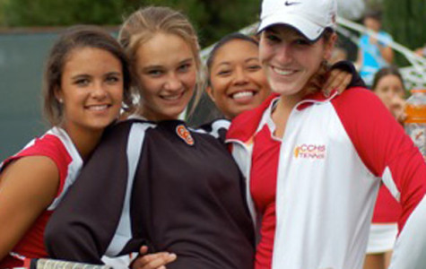 Girls Varsity, JV tennis bond, improve