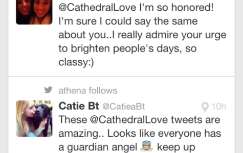 'Tweeting Samaritan' spreads love to Cathedral students