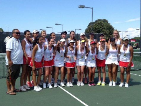 Girls' tennis team swings into new season with high expectations