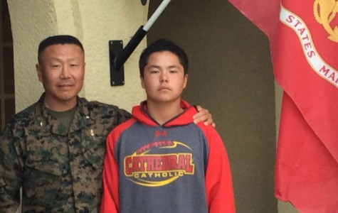 Freshman Alex Yoo surprised by father, Marine general