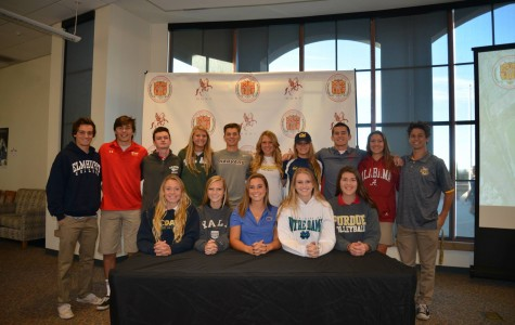 Sixteen senior sports stars sign national intent letters