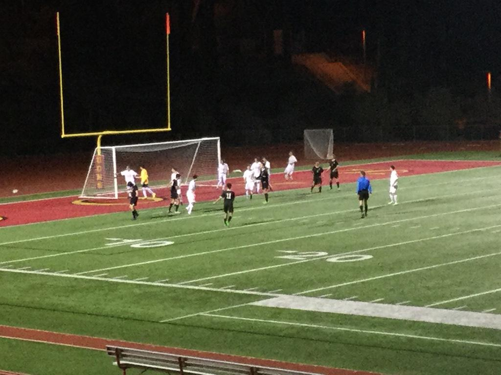 The Cathedral Catholic High School boys soccer team scores its first goal of the night during a recent match versus La Jolla.