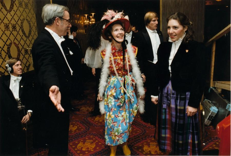 First+Lady+Nancy+Reagan+parades+in+her+%22Second-Hand+Clothes%22+disguise+for+the+Gridiron+Club+Annual+Dinner%2C+Washington%2C+DC%2C+in+March%2C+1982.+