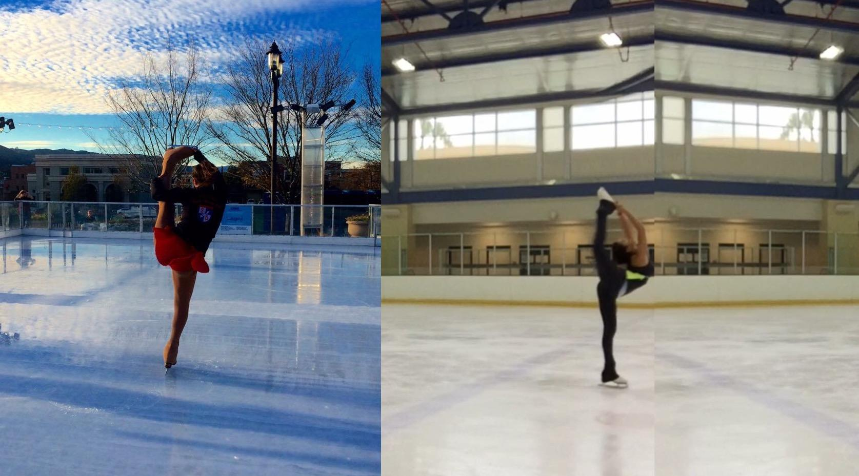 Shantal Bottero Velasco '17 rehearses for her next Disney princess performance on ice.