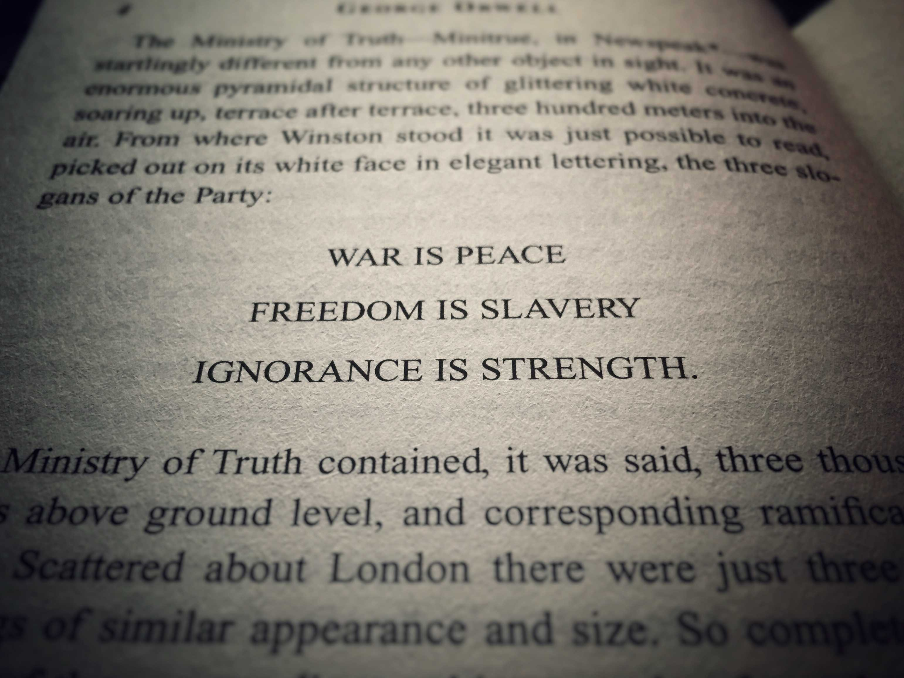 In George Orwell's