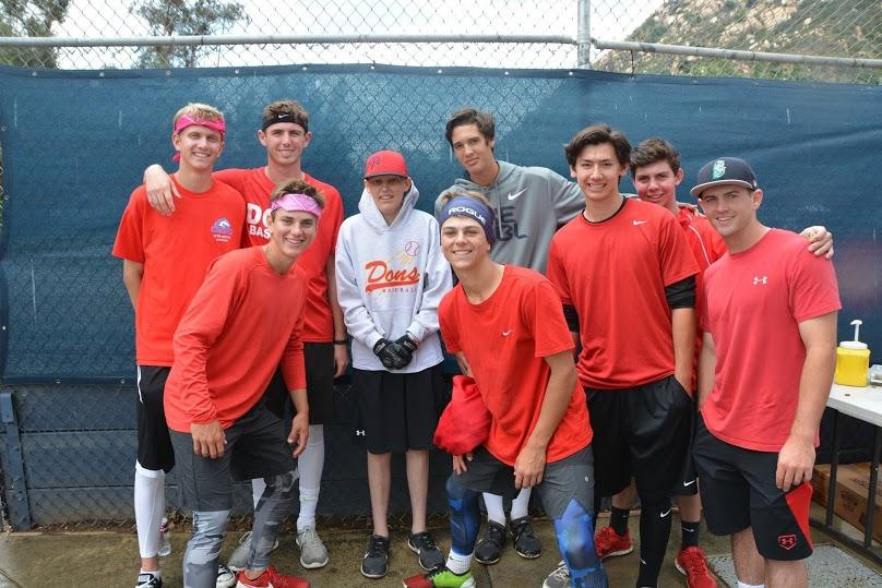 Brycen+and+some+of+the+CCHS+baseball+players+pose+for+a+picture+at+the+1st+Annual+LyonHearted+kickball+tournament%2C+honoring+17-year-old+Jason+Lyon+who+passed+away+from+brain+cancer+in+October.+