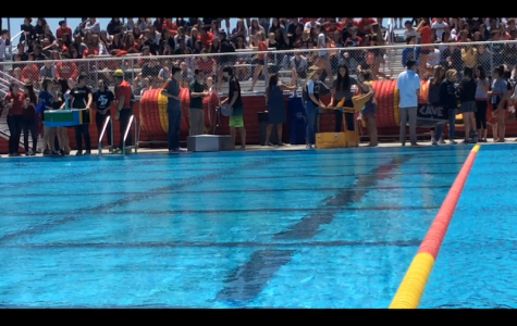 Calculus students hit the pool for annual boat race