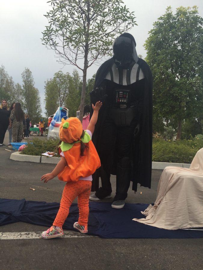 NHS students got into the Halloween spirit, entertaining even the smallest star wars fan.