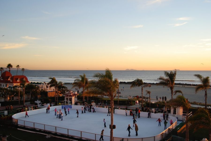 Who needs snow when San Diegans can skate by the sea?