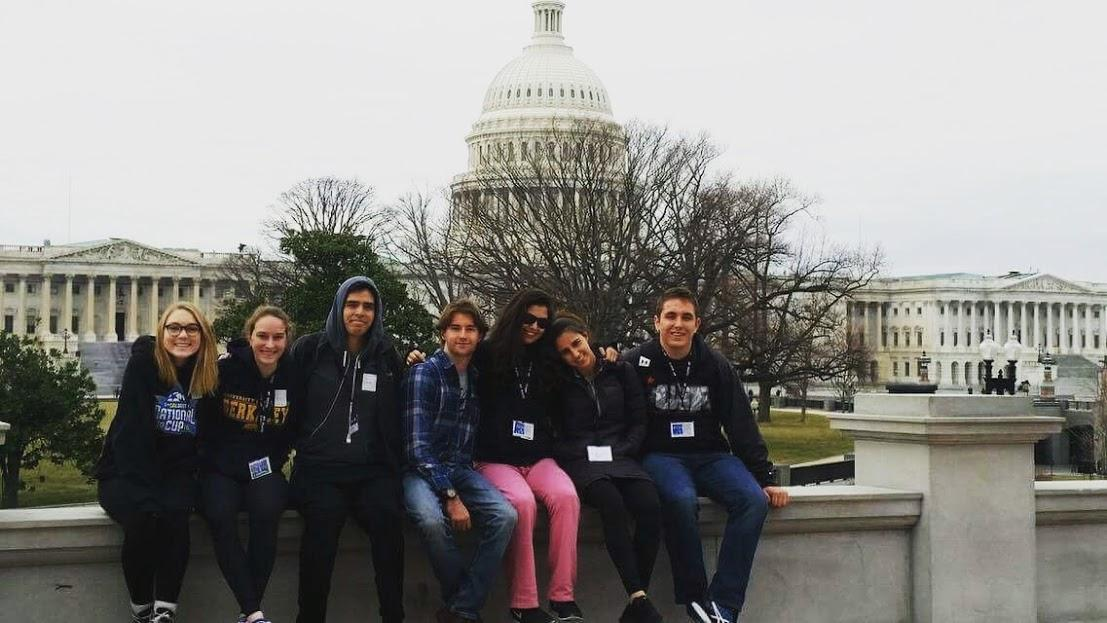 CCHS students, who are in Washington, D.C. on a trip organized by social studies teacher Christi Harrington, relax outside the Capital as they await the inauguration.