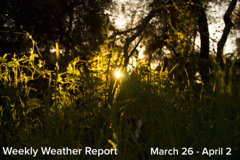 Weekly Weather Report March 26, 2017 – April 2, 2017