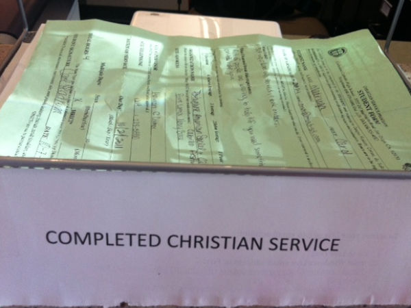 Cathedral's service program compared to other schools'