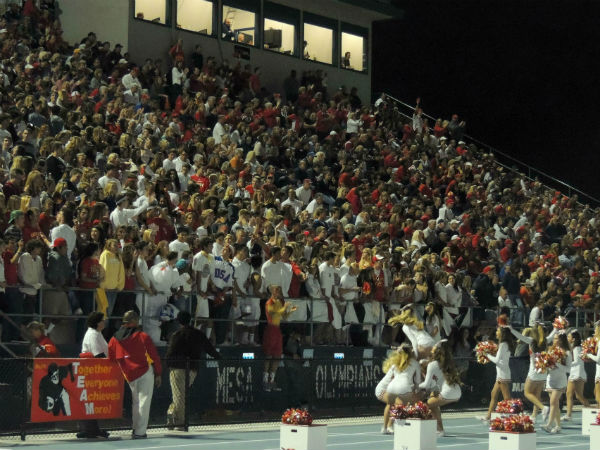CCHS fans aid in the Holy Bowl victory