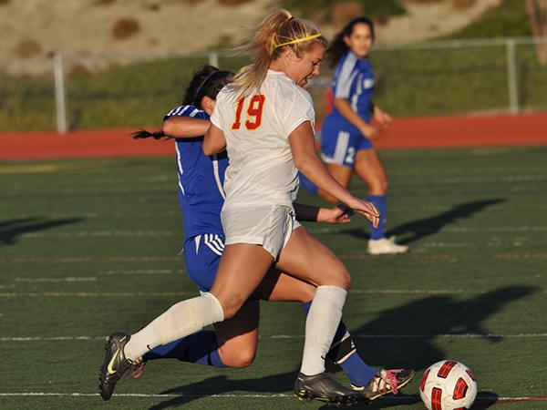 Female soccer player joins Cathedral football team