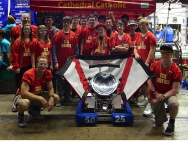 Robotics team wins FRC 'Rookie Highest Seed Award'