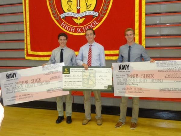 Stiker triplets earn full-paid scholarships through ROTC