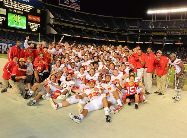 The Dons celebrating after last year's CIF Championship win