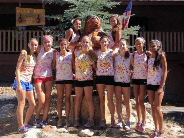 Girls' varsity cross country team