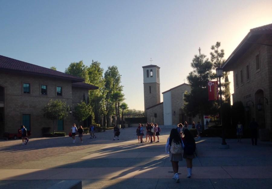 Cathedrals ten-year old campus before a regular school day begins