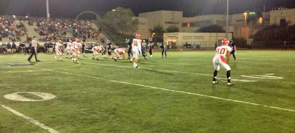 Junior Varisty on the field in the fourth quarter of the Scripps Ranch game