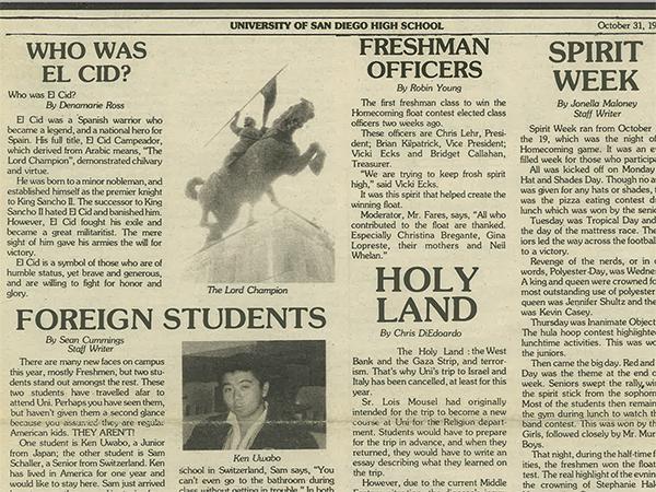 El Cid 10/31/85 - Halloween Issue