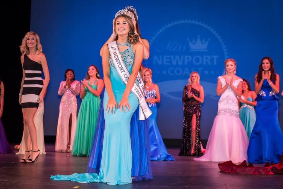 Alex winning Miss Newport Coast Teen USA back in September