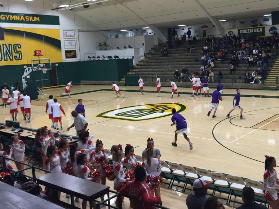 Boys basketball plays the Torrey Pines Falcons