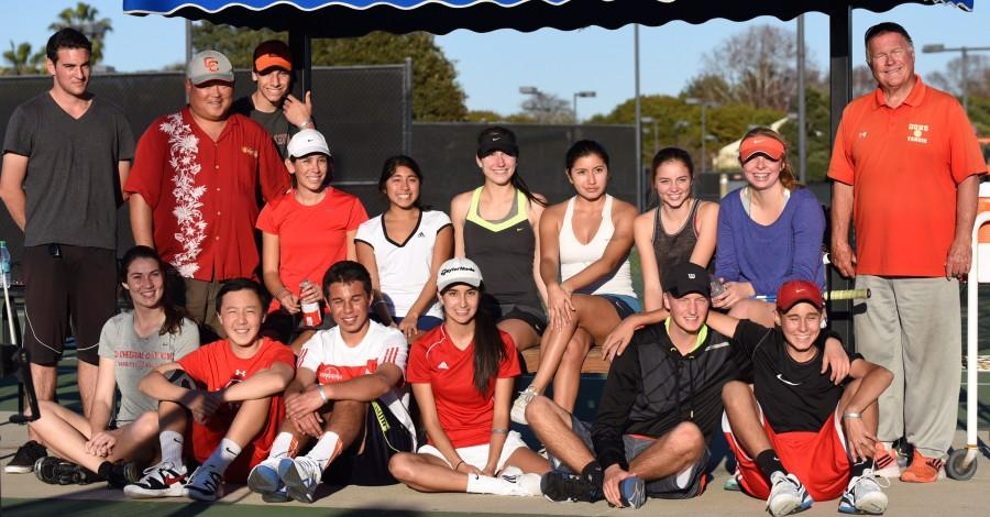 Pictured here are some of the players of World Team Tennis at one of their tournaments