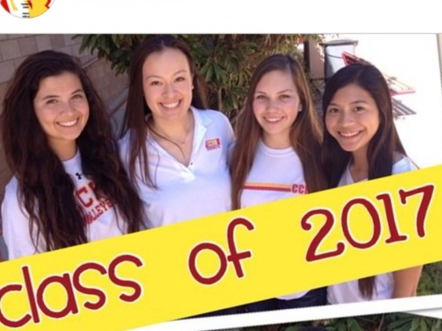 From left to right: Kate Garofalo (President), Nicole Alldredge (Vice President), Kate Petosa (Secretary), Annalise Castro (Class Historian)