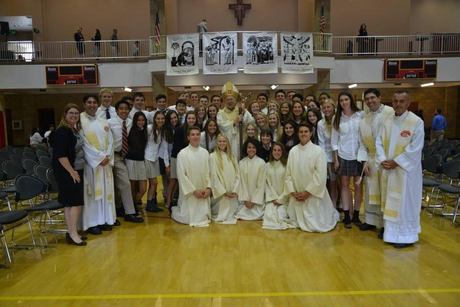 New Bishop McElroy celebrates his first Mass with CCHS community