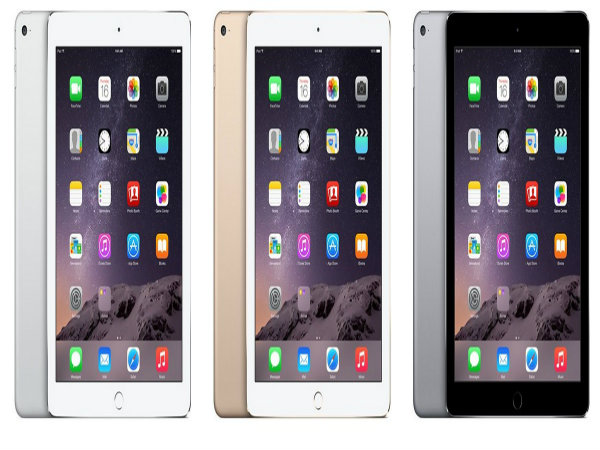 Different colors of the new iPad Air 2s that sophomores will receive