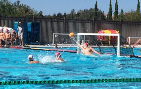 Varsity water polo boys come out with a win