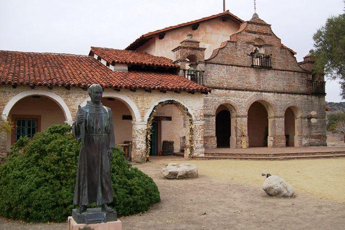 Junipero Serra statue Mission San Antonio de Padua