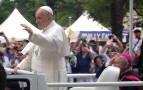 Pope Francis at the World Meeting of Families. Photo courtesy of alumni parent.