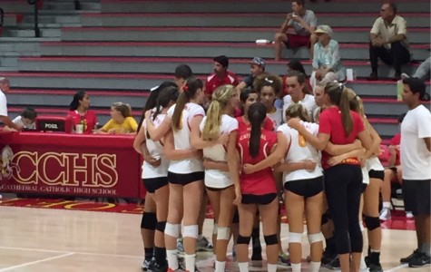 Varsity Volleyball puts up a good fight against TPHS Falcons, student section spirit beats all