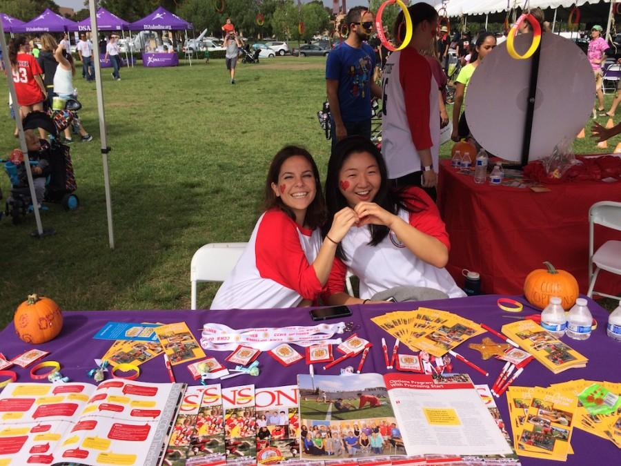 Options mentors, Kelly Cape and Sue Han, represent CCHS options program at the Buddy Walk
