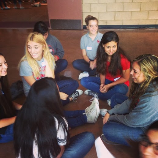 Sophomores gather in small groups to develop their spirituality at retreats.