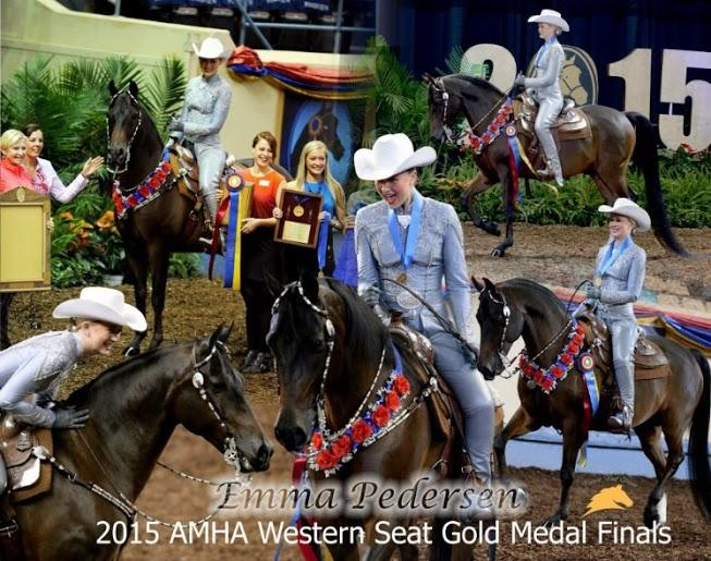 CCHS student Emma Pedersen competed recently at the Western Seat Finals in Oklahoma City, where she won a gold medal.