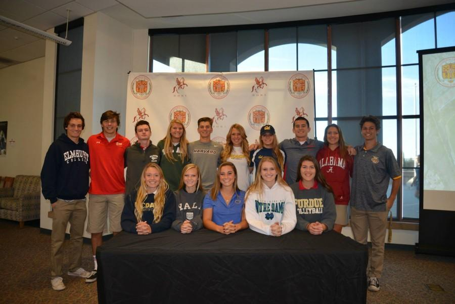 CCHS student-athletes embark on the next phase of their athletic careers by signing national letters of intent last week at the Hall of Champions in Balboa Park.