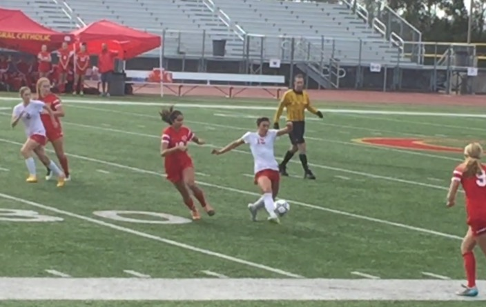 The CCHS varsity girls soccer team lost a close one to Mater Dei High School of Santa Ana at the Butch Lee Memorial Soccer Tournament.