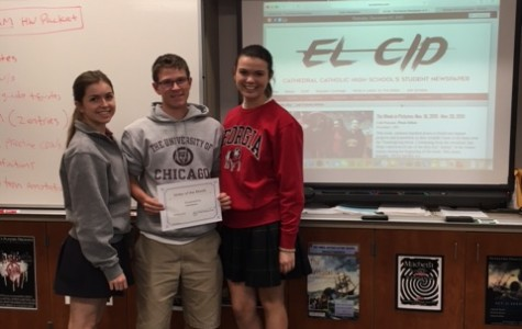 El Cid recognizes Cole Parsons as November Writer of the Month