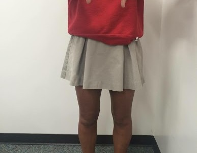 The required skirt length remains a big issue for many CCHS female students.