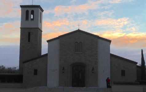 Our very own CCHS chapel shines brightly in the early-morning rays.