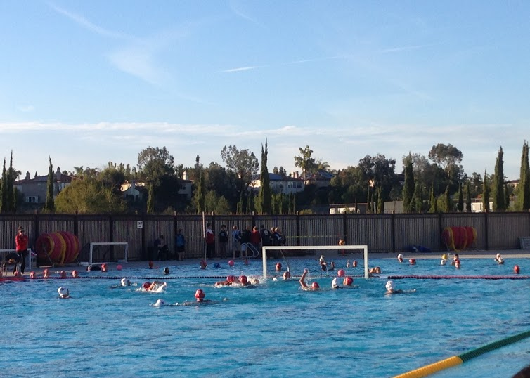 The CCHS Varsity girls water polo played the The Bishops Knights yesterday at home. The girls came up short, with a score of 3-5, but played a good game.