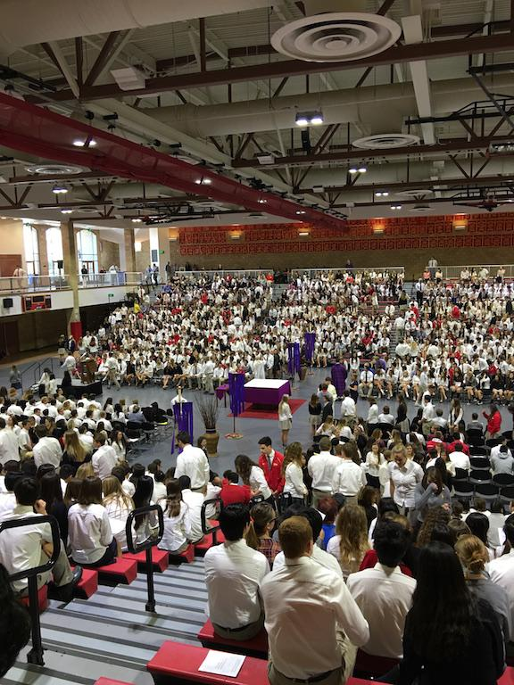 Students gathered on Wednesday for Ash Wednesday mass, kicking off the Lenten season.