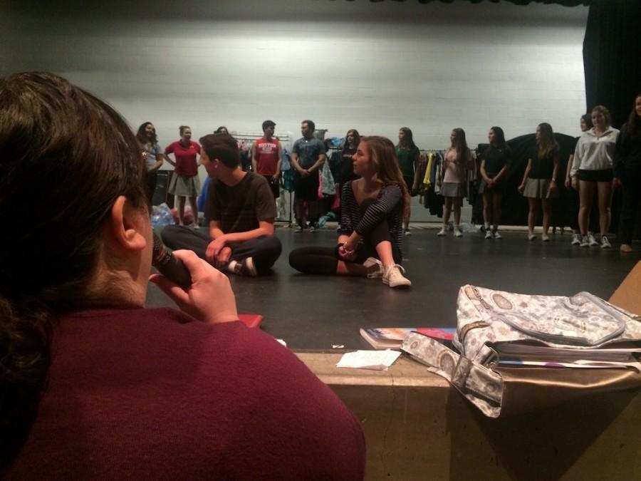 Ms. Katie Wilson directs Dane Scott '17, Natalie Hynes '17 and the ensemble of Cathedral Catholic High School Drama's production of Bye Bye Birdie, which opens the last weekend of February.