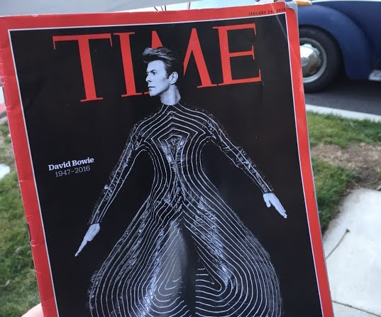 British musician David Bowie, who died of liver cancer on Jan. 10, was featured on the cover of Time magazine's Jan. 25 edition. Bowie blazed many musical, fashion and pop culture trails.