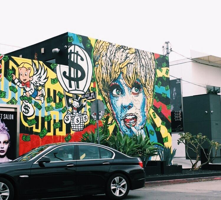 You can find art on every street corner of West Hollywood.