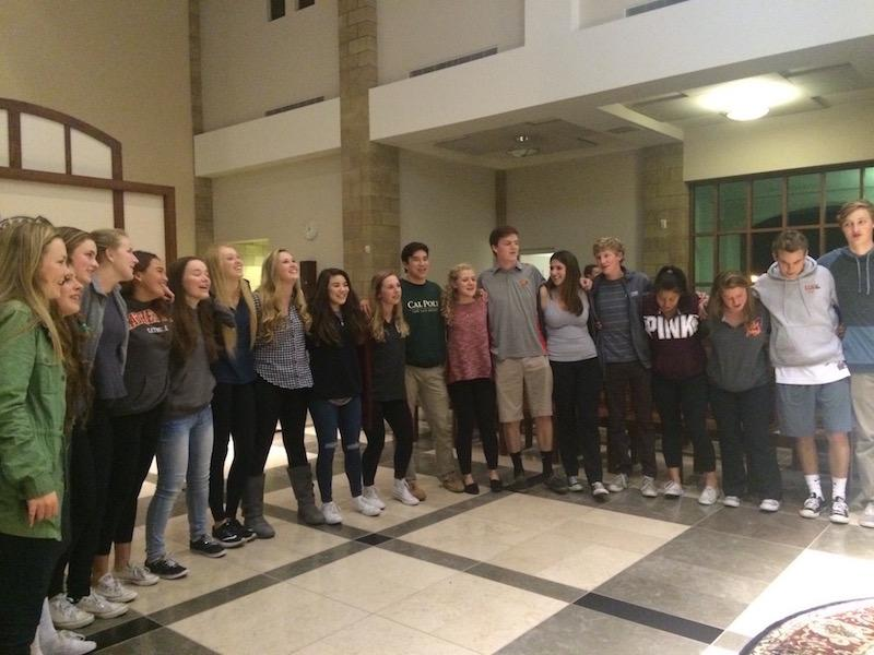 As with every first Wednesday of the month, Campus Ministers led XLT Night in the Saint Therese Chapel. At the end of the night, attendees joined together to sing
