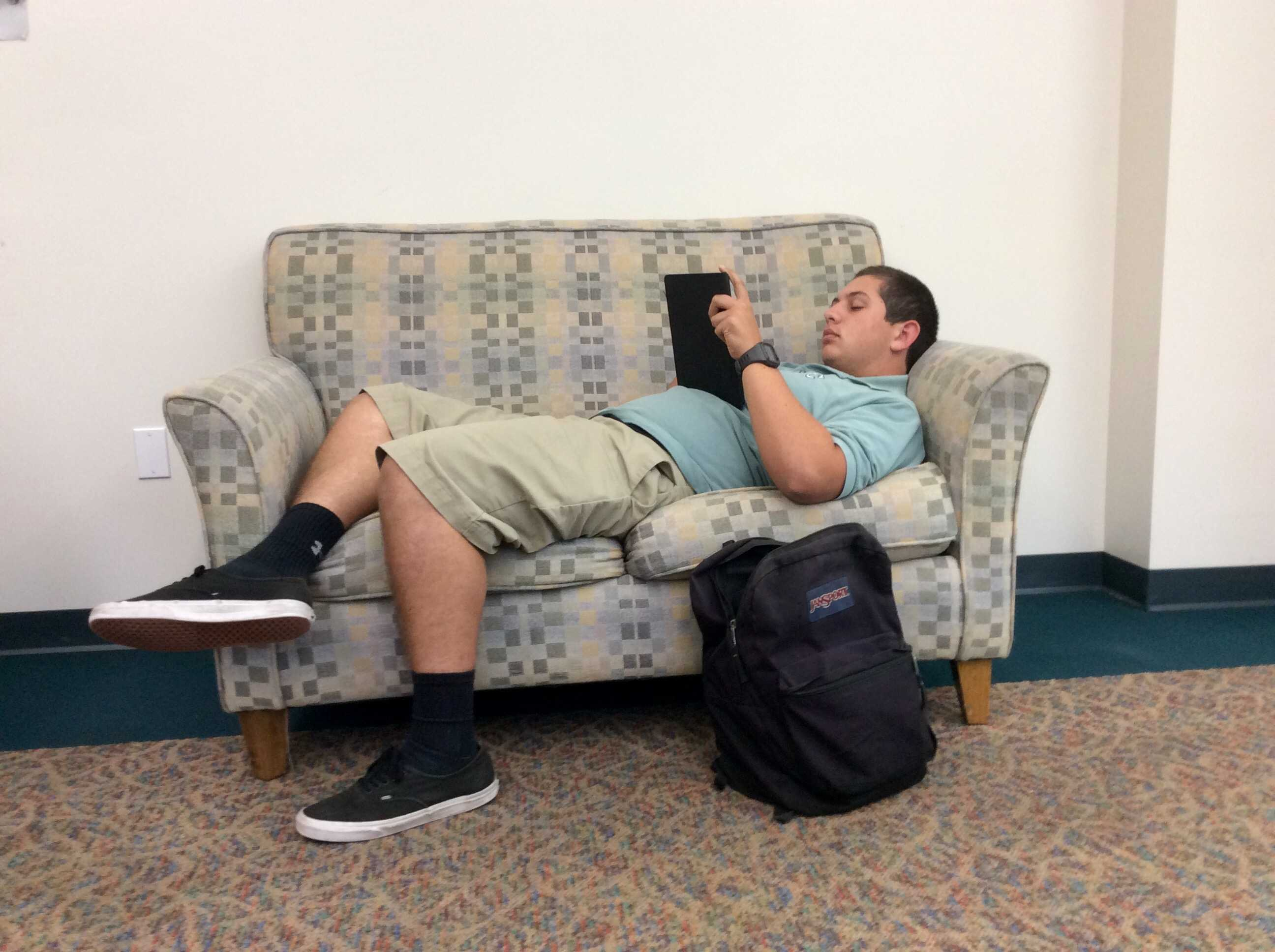 Nicholas Turk '16 falls victim to Senioritis in his seventh period study hall class where he is found napping on camera.